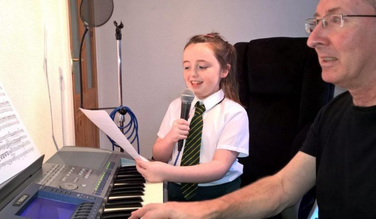 Shannon with a singing lesson